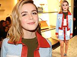 Mandatory Credit: Photo by Andreas Branch/WWD/REX/Shutterstock (5618970e) Kiernan Shipka Fendi and Vogue celebrate 'Fendi Beverly Hills' store opening, Los Angeles, America - 24 Mar 2016