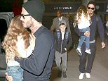 24 March 2016. David Beckham and family are seen at LAX  Credit: BG/GoffPhotos.com   Ref: KGC-300/160324NR5 **UK, Spain, Italy, China, South Africa Sales Only**