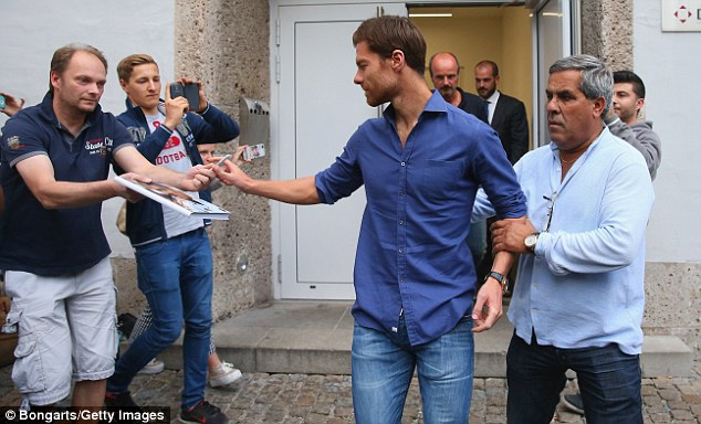 Touch down: Former Liverpool man Alonso said he resisted advances from Premier League clubs