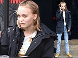 March 24, 2016: Lily-Rose Depp seen having a conversation with a woman outside of shop Merci in Paris, France.\nMandatory Credit: INFphoto.com Ref.: inffr-01/206099