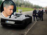 """Samir Nasri with his Lamborghini that was impounded by Manchester police. \\n\\nMaterial must be credited """"The Sun/News Syndication"""" unless otherwise agreed. 100% surcharge if not credited. Online rights need to be cleared separately. Strictly one time use only subject to agreement with News Syndication"""