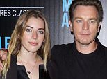 """NEW YORK, NY - MARCH 23:  Actor Ewan McGregor (R) and daughter  Clara Mathilde McGregor attend The Cinema Society with Ketel One and Robb Report host a screening of Sony Pictures Classics' """"Miles Ahead"""" at Metrograph on March 23, 2016 in New York City.  (Photo by Jim Spellman/WireImage)"""