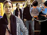 EXCLUSIVE: Zoe Saldana and husband Marco Perego were spotted out after a romantic Sushi dinner date at Asanebo in Studio City, CA.\n\nPictured: Zoe Saldana, Marco Perego\nRef: SPL1251691  230316   EXCLUSIVE\nPicture by: Sharpshooter Images / Splash \n\nSplash News and Pictures\nLos Angeles: 310-821-2666\nNew York: 212-619-2666\nLondon: 870-934-2666\nphotodesk@splashnews.com\n