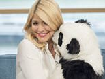 EDITORIAL USE ONLY. NO MERCHANDISING Mandatory Credit: Photo by Ken McKay/ITV/REX/Shutterstock (5618733bt) Holly Willoughby 'This Morning' TV show, London, Britain - 24 Mar 2016 Panda Takeover - Its a first for the UK as Chessington World of Adventures Resort takes a leap towards the future of theme parks. Theyre gearing up to unveil live animatronic pandas for families to watch in a fascinating new show and to learn about the endangered species up close and personal. And the pandas are with us today in the studio to cause some pandemonium and our viewers will be naming one of the babies.