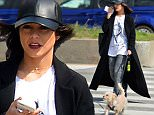 149824, EXCLUSIVE: Vanessa Hudgens seen wearing Marilyn Monroe t-shirt while she walks her dog Darla in NYC. New York, New York - Wednesday March 23, 2016. Photograph: © PacificCoastNews. Los Angeles Office: +1 310.822.0419 UK Office: +44 (0) 20 7421 6000 sales@pacificcoastnews.com FEE MUST BE AGREED PRIOR TO USAGE