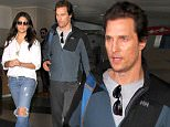 Matthew McConaughey and his beautiful wife, Camila Alves arrive in Los Angeles together as they make their way to a waiting limo.  The Hollywood power couple are seen at LAX.\n\nPictured: Matthew McConaughey, Camila Alves\nRef: SPL1251546  240316  \nPicture by: Sharky / Splash News\n\nSplash News and Pictures\nLos Angeles: 310-821-2666\nNew York: 212-619-2666\nLondon: 870-934-2666\nphotodesk@splashnews.com\n