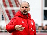 Mandatory Credit: Photo by Action Press/REX/Shutterstock (5617934b) Pep Guardiola Bayern Munich football training, Germany - 22 Mar 2016