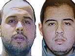 """(COMBO) This combination of handout pictures obtained via Interpol on March 23, 2016 shows Khalid (L) and Ibrahim (R) El Bakraoui, the two Belgian brothers identified as the suicide bombers who struck Brussels on March 22, 2016, as a manhunt for a third assailant in Belgium's bloodiest terror assault gained pace. Two suicide blasts hit Brussels' Zaventem airport on March 22, 2016 morning followed soon after by a third on a train at Maalbeek station, close to the European Union's institutions, just as rush-hour commuters were heading to work. The triple blasts that killed some 30 people and left around 250 injured was claimed by the Islamic State jihadist group. / AFP PHOTO / Interpol / - / RESTRICTED TO EDITORIAL USE - MANDATORY CREDIT """"AFP PHOTO / INTERPOL- NO MARKETING NO ADVERTISING CAMPAIGNS - DISTRIBUTED AS A SERVICE TO CLIENTS-/AFP/Getty Images"""