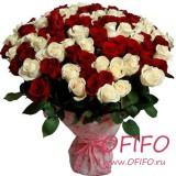 Букет из смешанных роз №178