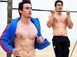 The newest villian on Freeform's hit show Pretty Little Liars, British actor Huw Collins completes an early morning work out on the beach in Santa Monica!\n\nPictured: Huw Collins \nRef: SPL1251195  230316  \nPicture by: Splash News Online\n\nSplash News and Pictures\nLos Angeles: 310-821-2666\nNew York: 212-619-2666\nLondon: 870-934-2666\nphotodesk@splashnews.com\n