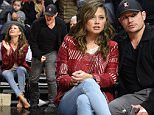 LOS ANGELES, CA - MARCH 24:  Vanessa Lachey and Nick Lachey (R) attend a basketball game between Portland Trail Blazers and the Los Angeles Clippers at Staples Center on March 24, 2016 in Los Angeles, California.  (Photo by Noel Vasquez/GC Images)