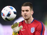 BERLIN, GERMANY - MARCH 26:  Tom Heaton of England warms up prior to the International Friendly match between Germany and England at Olympiastadion on March 26, 2016 in Berlin, Germany.  (Photo by Michael Regan - The FA/The FA via Getty Images)