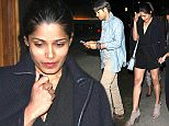 Freida Pinto And Her Boyfriend Leave The Nice Guy Club in West Hollywood  Pictured: Freida Pinto Ref: SPL1252782  260316   Picture by: Photographer Group / Splash News  Splash News and Pictures Los Angeles: 310-821-2666 New York: 212-619-2666 London: 870-934-2666 photodesk@splashnews.com