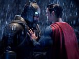 """This image released by Warner Bros. Pictures shows Ben Affleck, left, and Henry Cavill in a scene from, """"Batman v Superman: Dawn of Justice.""""  (Clay Enos/Warner Bros. Pictures via AP)"""