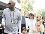 Picture Shows: Lamar Odom, Mason Disick, Khloe Kardashian, Penelope Disick  March 27, 2016    Members of the Kardashian clan attend church for Easter Sunday service in Agoura Hills, California.    Non-Exclusive  UK RIGHTS ONLY    Pictures by : FameFlynet UK © 2016  Tel : +44 (0)20 3551 5049  Email : info@fameflynet.uk.com