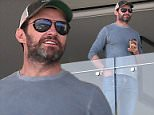 *EXCLUSIVE* SYDNEY, NSW - *EXCLUSIVE* Hugh Jackman checks out his new view on Bondi Beach! Hugh is in Sydney to see his new house \nBackGrid 25 MARCH 2016 \nFor content licensing please contact BackGrid Australia at:\nPhone: +61 2 9212 2622 / +61 410 818 463\nEmail:  photos@backgrid.com.au