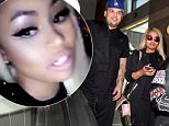 Picture Shows: Rob Kardashian, Blac Chyna  March 27, 2016\n \n Rob Kardashian and Blac Chyna arrive at LAX airport in Los Angeles. Rob was carrying a large stuffed animal and smiling as they made their way to their car. The couple recently documented their trip to an Atlanta strip club via social media.\n \n Non-Exclusive\n UK RIGHTS ONLY\n \n Pictures by : FameFlynet UK � 2016\n Tel : +44 (0)20 3551 5049\n Email : info@fameflynet.uk.com