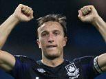 Premier League Manchester City 1 v West Ham 2  West Ham captain Mark Noble celebrates victory