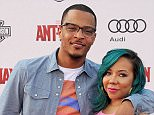 "HOLLYWOOD, CA - JUNE 29:  Rapper T.I. and Tameka 'Tiny' Cottle-Harris arrive at the premiere of Marvel Studios ""Ant-Man"" at Dolby Theatre on June 29, 2015 in Hollywood, California.  (Photo by Gregg DeGuire/WireImage)"