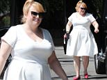Hollywood, CA - Rebel Wilson looks fresh and ready for spring in a white sun dress and red flats as she arrives at Chateau Marmot for lunch. \n  \nAKM-GSI    March 25, 2016\nTo License These Photos, Please Contact :\nSteve Ginsburg\n(310) 505-8447\n(323) 423-9397\nsteve@akmgsi.com\nsales@akmgsi.com\nor\nMaria Buda\n(917) 242-1505\nmbuda@akmgsi.com\nginsburgspalyinc@gmail.com