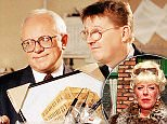 TELEVISION PROGRAMME : Coronation Street (1994)\nStarring (l-r) Pippa Hicnhley as Elaine Fenwick, Ken Morley as Reg Holdsworth and Kevin Kennedy as Curly Watts.