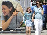 Brentwood, CA - Jennifer Garner and her daughter Violet treat themselves at the nail salon before Easter Sunday. The duo hold hands lovingly while making their way inside to get pampered. While in the salon, Jennifer sees gets excited at something that catches her attention on TV. \nAKM-GSI        March 26, 2016\nTo License These Photos, Please Contact :\nSteve Ginsburg\n(310) 505-8447\n(323) 423-9397\nsteve@akmgsi.com\nsales@akmgsi.com\nor\nMaria Buda\n(917) 242-1505\nmbuda@akmgsi.com\nginsburgspalyinc@gmail.com