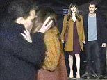 149870, Jamie Dornan and Dakota Johnson shoot the gallery kiss scene for Fifty Shades Darker in Vancouver. Vancouver, Canada - Thursday March 24, 2016. Photograph: © Kred, PacificCoastNews. Los Angeles Office: +1 310.822.0419 UK Office: +44 (0) 20 7421 6000 sales@pacificcoastnews.com FEE MUST BE AGREED PRIOR TO USAGE