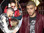 Zayn Malik spotted out in NYC wearing a stylish red leather jacket as he gets yacked over for a picture by fan with onlookers out to dinner.  Pictured: Zayn Malik Ref: SPL1251781  240316   Picture by: @PapCultureNYC / Splash News  Splash News and Pictures Los Angeles: 310-821-2666 New York: 212-619-2666 London: 870-934-2666 photodesk@splashnews.com
