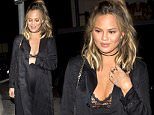Heavily Pregnant Chrissy Teigen has a wardrobe malfunction as her and husband John Legend were seen at 'Lady Gaga's' private birthday party at 'No Name' Restaurant in Los Angeles, CA\n\nPictured: Chrissy Teigen, John Legend\nRef: SPL1253064  270316  \nPicture by: SPW / TwisT / Splash News\n\nSplash News and Pictures\nLos Angeles: 310-821-2666\nNew York: 212-619-2666\nLondon: 870-934-2666\nphotodesk@splashnews.com\n