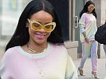 Singer Rihanna is seen in SoHo, New York.  Pictured: Rihanna Ref: SPL1252945  270316   Picture by: TheStewartofNY/Splash News  Splash News and Pictures Los Angeles: 310-821-2666 New York: 212-619-2666 London: 870-934-2666 photodesk@splashnews.com