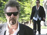 149930, EXCLUSIVE: Al Pacino stops by for a photo with a fan while walking home in Beverly Hills. Beverly Hills, California - Los Angeles, California - Sunday March 27, 2016. Photograph: © PacificCoastNews. Los Angeles Office: +1 310.822.0419 UK Office: +44 (0) 20 7421 6000 sales@pacificcoastnews.com FEE MUST BE AGREED PRIOR TO USAGE