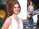 """Picture Shows: Lana Del Rey  March 27, 2016    """"Young and Beautiful"""" singer Lana Del Rey hang out with a group of friends at the Beverly Glen Market in Bel-Air, California.    Non Exclusive  UK RIGHTS ONLY    Pictures by : FameFlynet UK © 2016  Tel : +44 (0)20 3551 5049  Email : info@fameflynet.uk.com"""