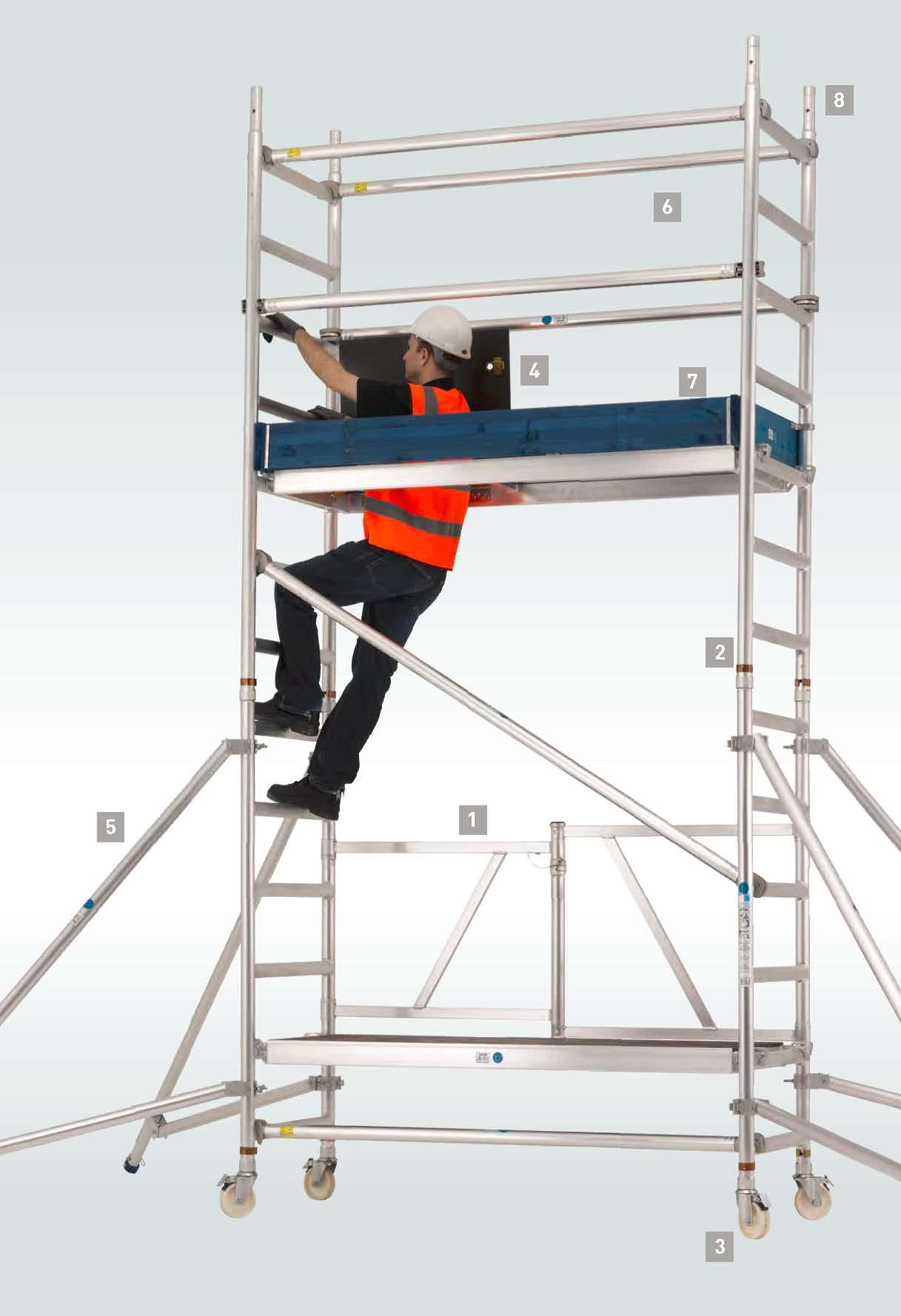 Zarges Reachmaster Mobile Folding Scaffold Tower Map