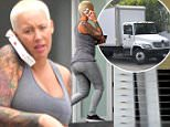 Amber Rose keeps busy on a Monday as moving trucks  are seen outside of her Los Angeles estate. Rose keeps it casual in a grey tank top and skintight skinny jeans. Monday, March 28, 2016. X17online.com NO WEB SITE USAGE MAGAZINES DOUBLE FEES Any queries call X17 UK Office 0034 966 713 949 Gary 0034 686421720 Lynne 0034 611100011