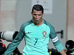 LEIRIA, PORTUGAL - MARCH 29: Portuguese's forward Cristiano Ronaldo celebrates scoring Portugal's second goal during the match between Portugal and BelgiumFriendly International at  Estadio Municipal de Leiria on March 29, 2016 in Lisbon, Portugal.  (Photo by Carlos Rodrigues/Getty Images)