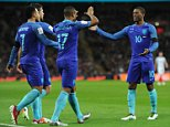 SPT_AHR_290316_ England v Netherlands International Friendly Picture by Andy Hooper Luciano Narsingh (Holland) scores and celebrates 1-2