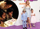 WESTWOOD, CA - MARCH 22:  Recording Artist/actress Jennifer Lopez (C) and son Maximilian David Muniz (L) and daughter Emme Maribel Muniz (R) arrive at Twentieth Century Fox And Dreamworks Animation's 'Home' Premiere at Regency Village Theatre on March 22, 2015 in Westwood, California.  (Photo by Jason Merritt/Getty Images)