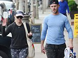 Reese Witherspoon looking fashionable at 40 as she walks with her personal trainer following a workout session in Brentwood, Ca  Pictured: Reese Witherspoon Ref: SPL1253424  280316   Picture by: London Entertainment /Splash   Splash News and Pictures Los Angeles: 310-821-2666 New York: 212-619-2666 London: 870-934-2666 photodesk@splashnews.com
