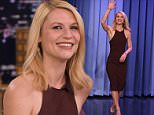 "NEW YORK, NY - MARCH 28:  Claire Danes Visit's ""The Tonight Show Starring Jimmy Fallon"" at NBC Studios on March 28, 2016 in New York City.  (Photo by Theo Wargo/Getty Images for NBC)"