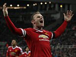 NEWCASTLE V MAN UTD - Manchester Utd's Wayne Rooney celebrates his goal 2-3 -  Jan 12th  2016 - Newcastle, UK -  PIcture by Ian Hodgson/Daily Mail