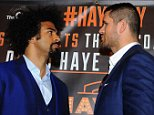 David Haye Press conference announcing fight with Arnold Gjergjaj. 30/03/16: Picture Kevin Quigley/Daily Mail Shannon Briggs storms the press conference