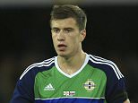 Paddy McNair of Northern Ireland during the International Friendly match between Northern Ireland and Slovenia played at the Windsor Park, Belfast on March 28th 2016