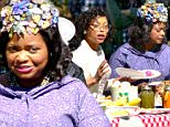 "*EXCLUSIVE* Atlanta, GA - Taraji P. Henson, Octavia Spencer, and Janelle Mon·e are looking pretty for a picnic on the set of ""Hidden Figures."" This movie will tell the story of a team of African-American women that provide NASA with important mathematical data needed to launch the program's first successful space missions.\nAKM-GSI       March 28, 2016\nTo License These Photos, Please Contact :\nSteve Ginsburg\n(310) 505-8447\n(323) 423-9397\nsteve@akmgsi.com\nsales@akmgsi.com\nor\nMaria Buda\n(917) 242-1505\nmbuda@akmgsi.com\nginsburgspalyinc@gmail.com"