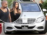 28.March.2016 - Van Nuys ñ USA\n*** STRICTLY AVAILABLE FOR UK AND GERMANY USE ONLY ***\nVan Nuys, CA - Kanye West and Kim Kardashian looked like a picture perfect couple as they headed out of the studio from filming Kocktails With Khloe. Kanye opened the door for his wife and drove out of the lot in their new Maybach.\nBYLINE MUST READ : AKM-GSI-XPOSURE\n***UK CLIENTS - PICTURES CONTAINING CHILDREN PLEASE PIXELATE FACE PRIOR TO PUBLICATION ***\n*UK CLIENTS MUST CALL PRIOR TO TV OR ONLINE USAGE PLEASE TELEPHONE 0208 344 2007*\n