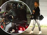EXCLUSIVE. COLEMAN-RAYNER. \nLos Angeles, CA, USA. March 29, 2016.\nHilary Duff enjoys a late night date with her muscly personal trainer Jason Walsh. Duff was spotted leaving LA hot-spot, Petit Trios, in tight black leather pants and high heeled stilettos while holding onto Walsh as they rode on his Harley Davidson motorcycle back to his LA home at 11pm Tuesday night. \nCREDIT LINE MUST READ: Karl Larsen/Coleman-Rayner\nTel US (001) 323 545 7548 - Mobile\nTel US (001) 310 474 4343 - Office\nwww.coleman-rayner.com