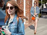 Picture Shows: Emma Roberts  March 30, 2016\n \n Actress Emma Roberts is spotted out running errands in West Hollywood, California. Emma was sporting a short patterned dress with a jean jacket while out and about.\n \n Non-Exclusive\n UK RIGHTS ONLY\n \n Pictures by : FameFlynet UK © 2016\n Tel : +44 (0)20 3551 5049\n Email : info@fameflynet.uk.com