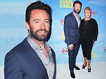 SYDNEY, AUSTRALIA - MARCH 30:  Hugh Jackman and Deborra-Lee Furness arrives ahead of the Eddie The Eagle screening at Event Cinemas Bondi Junction on March 30, 2016 in Sydney, Australia.  (Photo by Brendon Thorne/Getty Images)