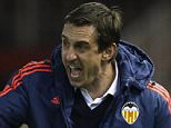 VALENCIA, SPAIN - FEBRUARY 18:  Gary Neville manager of Valencia CF reacts during the UEFA Europa League round of 32 first leg match between Valencia CF and Rapid Vienna at Estadi de Mestalla on February 18, 2016 in Valencia, Spain.  (Photo by Fotopress/Getty Images)