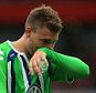 Nicklas Bendtner of Wolfsburg during the Emirates Cup match between Arsenal and VfL Wolfsburg at the Emirates Stadium on July 26, 2015 in London, England.     LONDON, ENGLAND - JULY 26: (Photo by Marc Atkins/Mark Leech/Getty Images)
