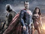 F1XK4F BATMAN v SUPERMAN: DAWN OF JUSTICE 2016 Warner Bros film with from left: Ben Affleck, Henry Cavill and Gal Gadot. Image shot 2015. Exact date unknown.